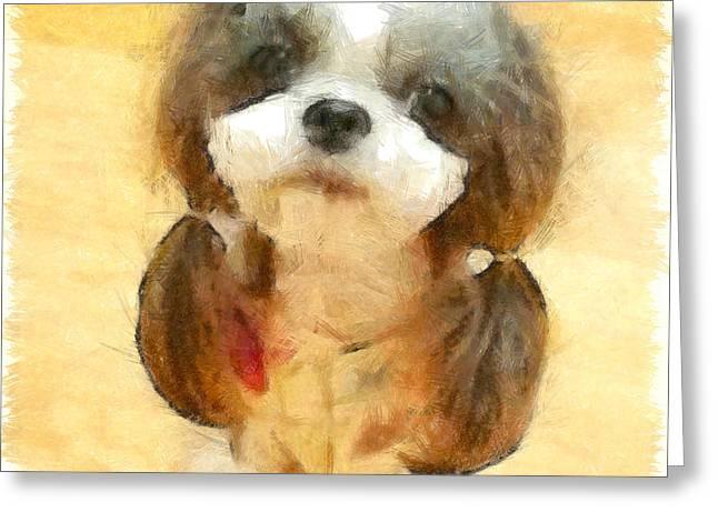 My Nice Pet - Da Greeting Card by Leonardo Digenio