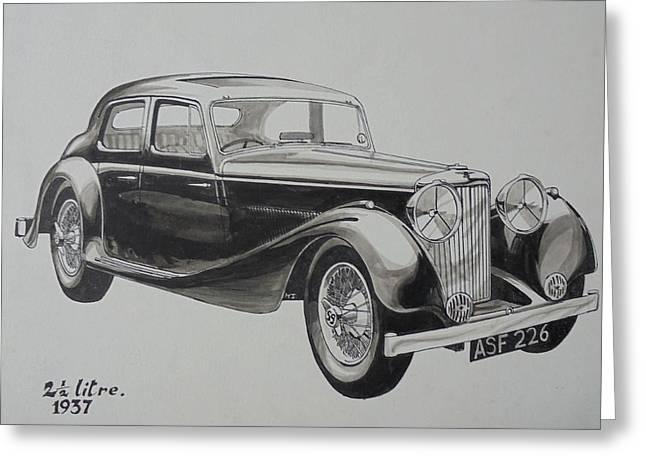 My Old Jag. Greeting Card by Mike Jeffries