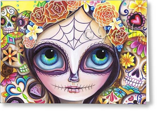 My Original sugar Skull Princess Greeting Card