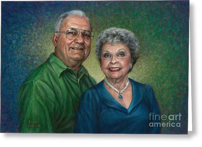 My Parents Portrait Greeting Card by Jane Bucci