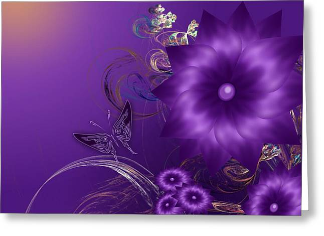 My Purple Day Greeting Card