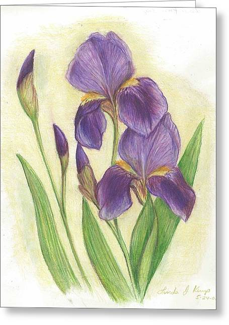 My Purple Irises Greeting Card