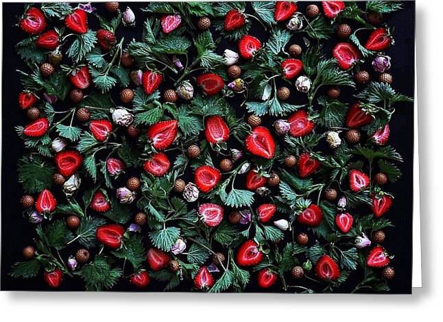 My Real Strawberry Patch Greeting Card