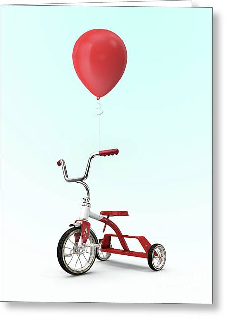 My Red Balloon Greeting Card