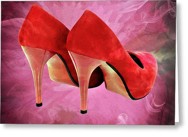 My Red Shoes Greeting Card by Ericamaxine Price