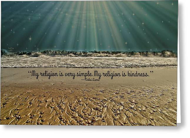 Greeting Card featuring the mixed media My Religion by Trish Tritz