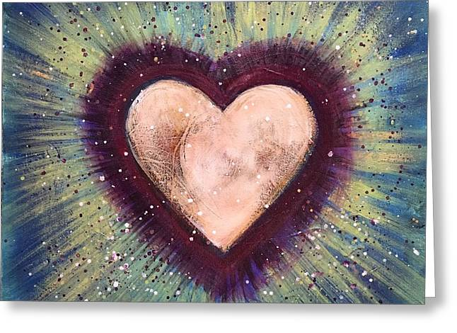 Greeting Card featuring the painting My Royal Heart by Laurie Maves ART
