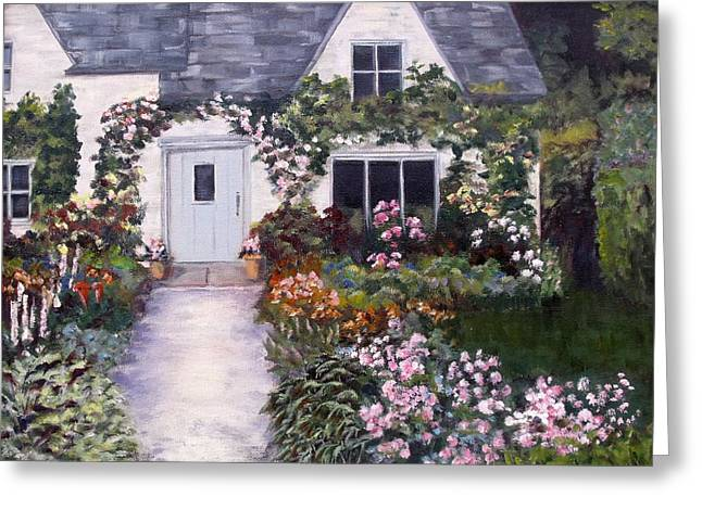 Greeting Card featuring the painting My Secret Place by Diane Daigle