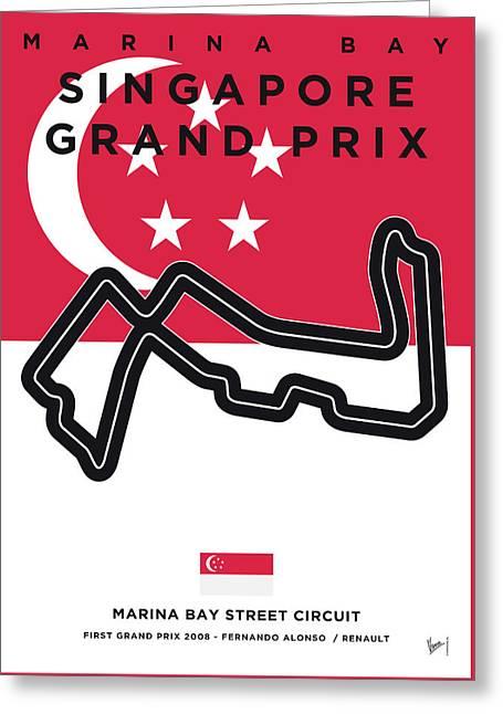 My Singapore Grand Prix Minimal Poster Greeting Card