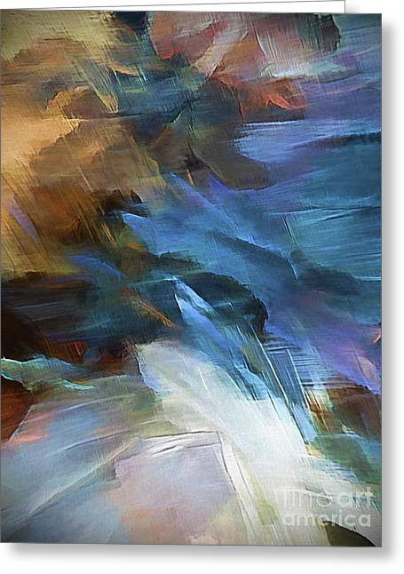 Greeting Card featuring the digital art My Soul Finds Rest In God by Margie Chapman