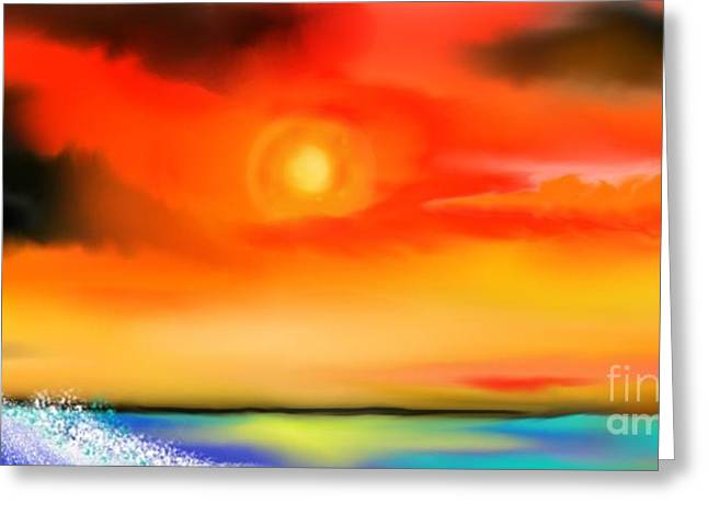 Greeting Card featuring the painting My Soul by Lori  Lovetere
