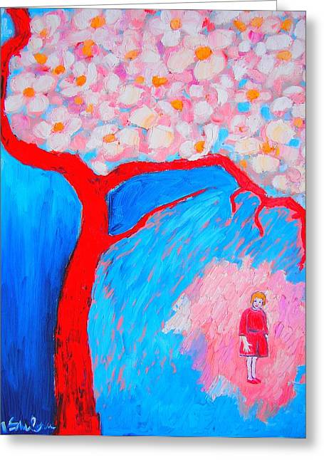 Greeting Card featuring the painting My Spring by Ana Maria Edulescu