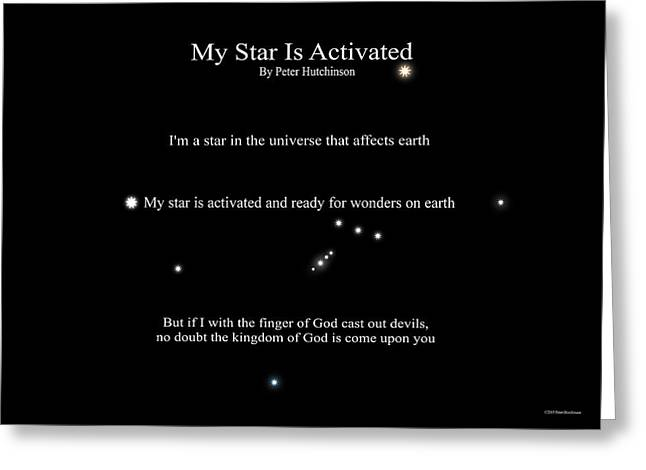 My Star Is Activated Greeting Card
