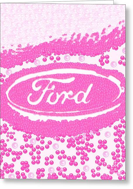 My Steering Wheel Pink Pearlesqued Greeting Card by Catherine Lott