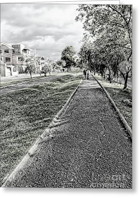 Greeting Card featuring the photograph My Street II by Al Bourassa