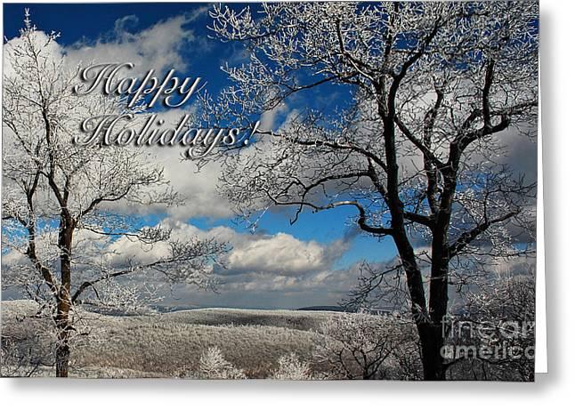 My Sunday Happy Holidays Card Greeting Card by Lois Bryan