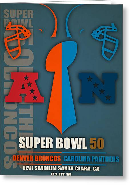 My Super Bowl 50 Broncos Panthers 4 Greeting Card
