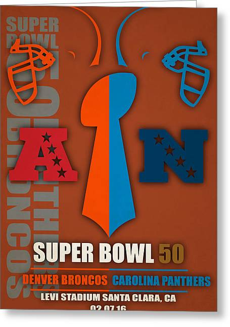 My Super Bowl 50 Broncos Panthers 5 Greeting Card