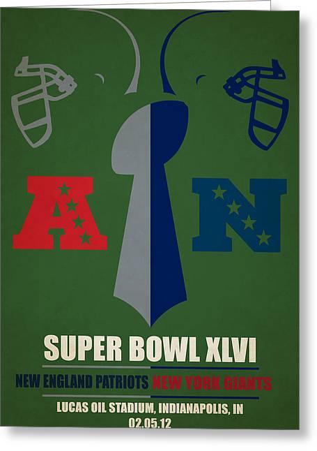 My Super Bowl Patriots Giants Greeting Card by Joe Hamilton