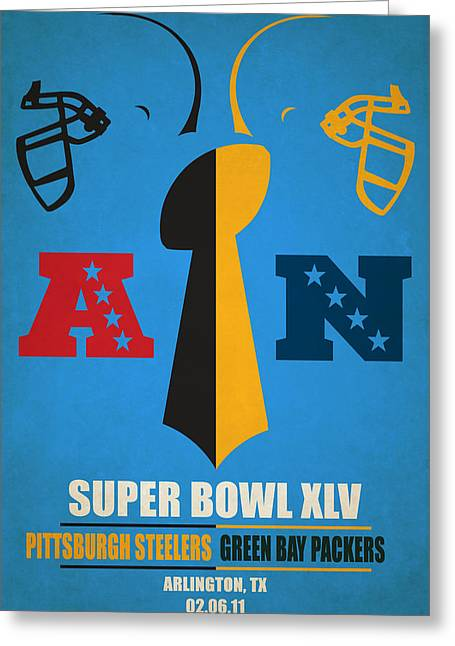 My Super Bowl Steelers Packers Greeting Card by Joe Hamilton