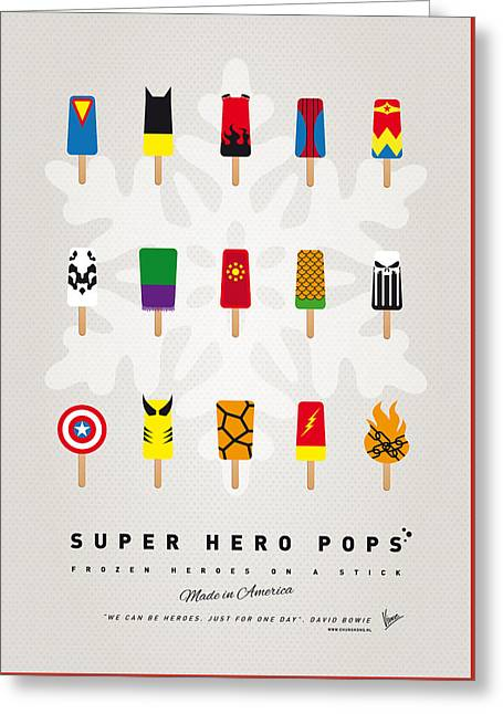 My Superhero Ice Pop - Univers Greeting Card by Chungkong Art