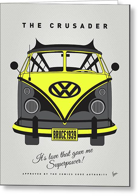 My Superhero-vw-t1-batman Greeting Card