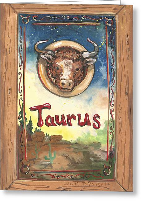 My Taurus Greeting Card