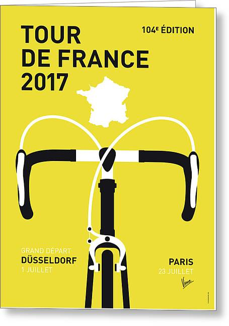 My Tour De France Minimal Poster 2017 Greeting Card by Chungkong Art