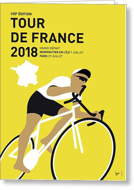 My Tour De France Minimal Poster 2018 Greeting Card
