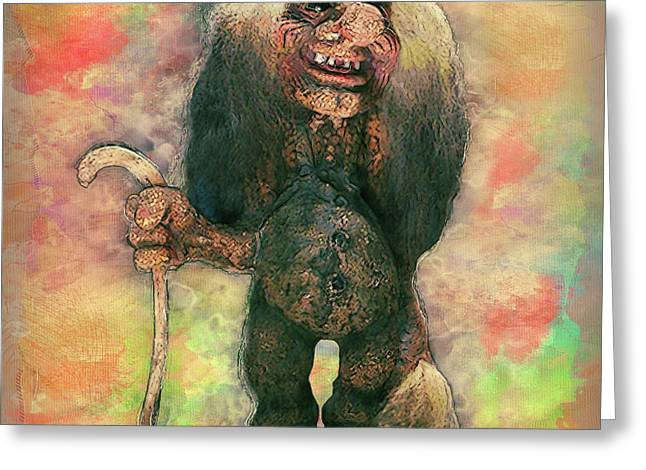 My Traveling Companion Greeting Card by Jack Zulli