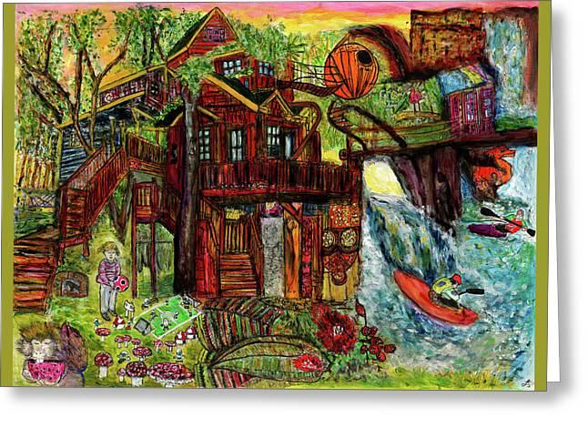 My Treehouse Paradise  Greeting Card