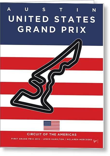 My United States Grand Prix Minimal Poster Greeting Card