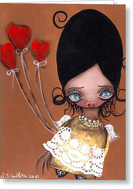 My Valentine Greeting Card by  Abril Andrade Griffith