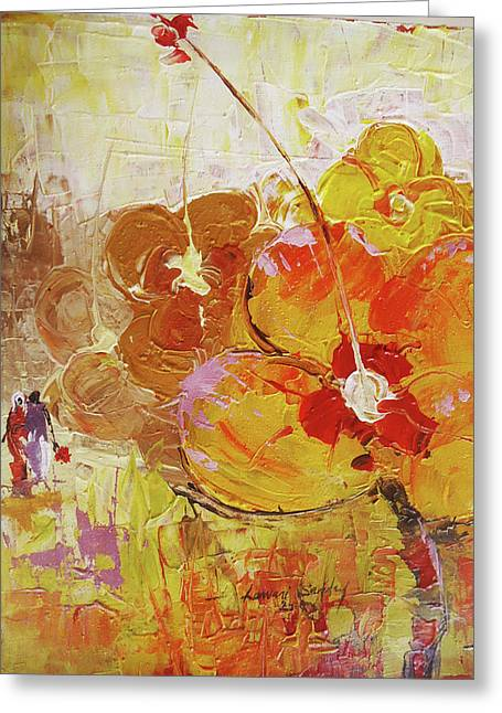 Lawani sunday greeting cards greeting card featuring the painting my valentine by lawani sunday m4hsunfo