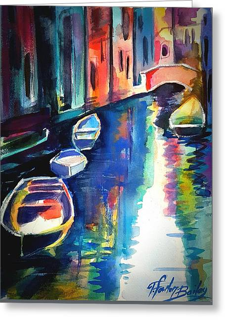 My Venetian Memory Greeting Card by Therese Fowler-Bailey