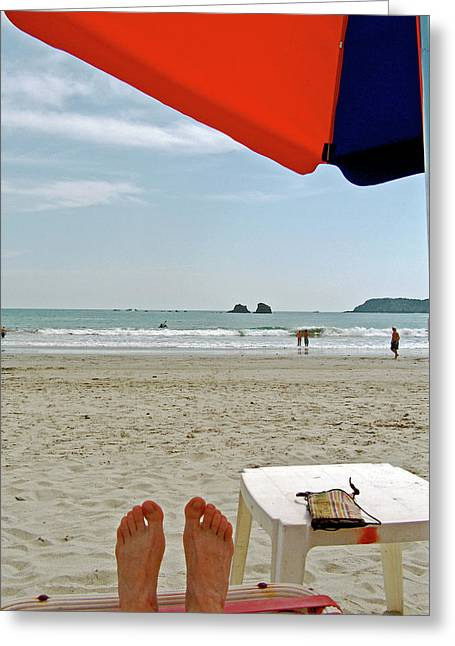 My View Of Manuel Antonio Beach, Costa Rica Greeting Card by Ruth Hager