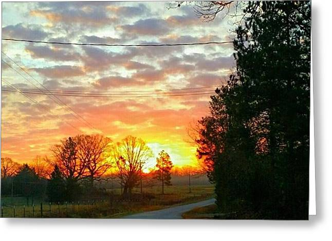 My View Of The Sunrise This Greeting Card