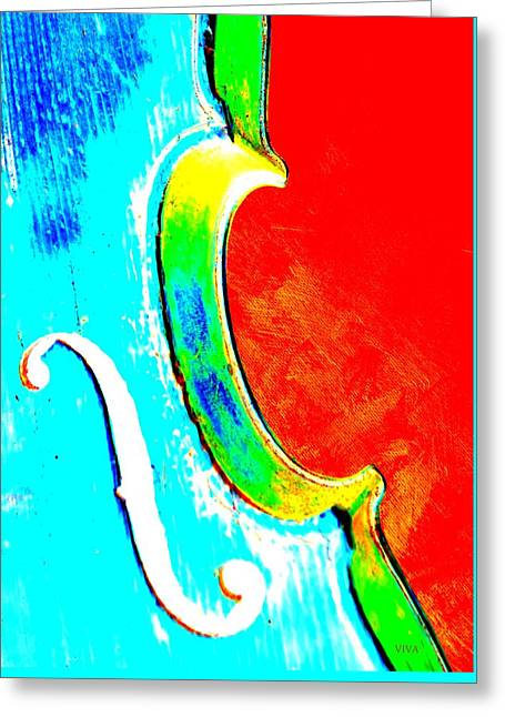 My Violin 2 Greeting Card by VIVA Anderson