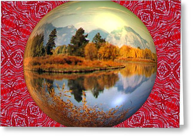 My World Greeting Card by Guillermo Mason