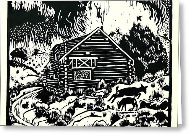 My Wyoming Cabin In Winter Greeting Card