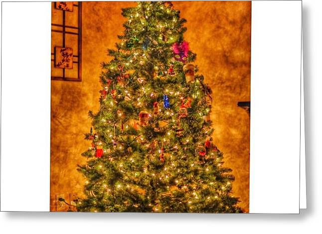 #myhouse #myhome #tree #christmas Greeting Card by David Haskett