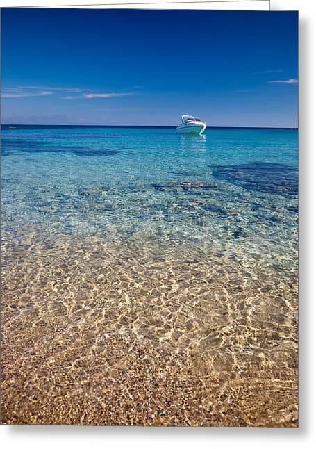 Mykonos Beach Greeting Card by Neil Buchan-Grant