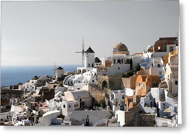 Mykonos Greece Greeting Card by Jim Kuhlmann