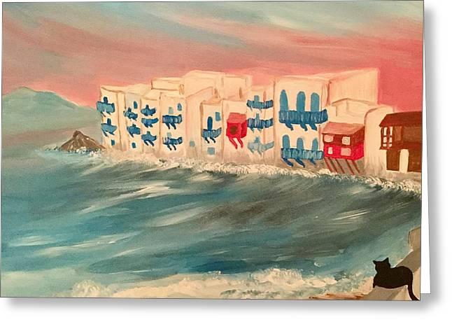 Mykonos  Greeting Card by My Art