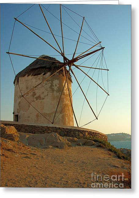 Mykonos Windmill  Greeting Card