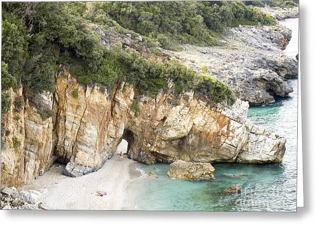 Mylopotamos Beach, Pelion, Greece Greeting Card by Moshe Torgovitsky
