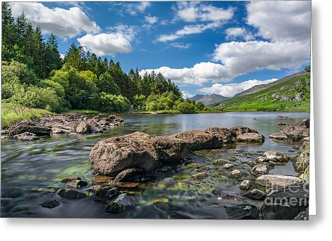 Mymbyr Lakes Greeting Card by Adrian Evans