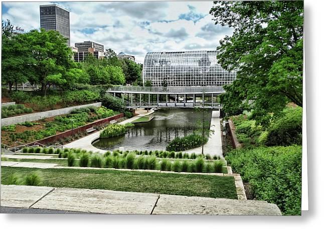 Myriad Gardens Oklahoma City Greeting Card by Ann Powell