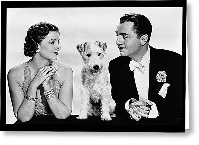 Myrna Loy Asta William Powell Publicity Photo The Thin Man 1936 Greeting Card