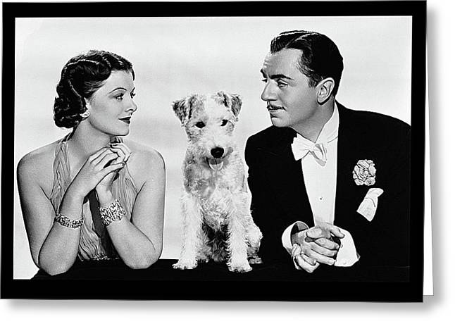 Myrna Loy Asta William Powell Publicity Photo The Thin Man 1936 Greeting Card by David Lee Guss